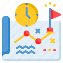 planning, goals, strategy icon