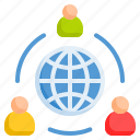 connection, social media, social-network icon