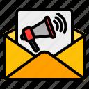 email, marketing, message, communication, envelope, advertisement, megaphone