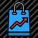 shopping, bag, shop, business, ecommerce, graph, cart