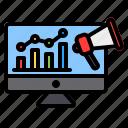 digital, marketing, promotion, advertising, chart, graph, bar