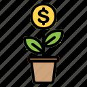 growth, plant, business, finance, money, marketing, dollar