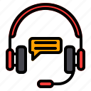 customer, service, support, communication, message, interaction, headphone