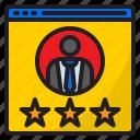 rating, star, user, seo, businessman