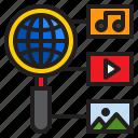 search, global, network, multimedia, seo