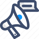 announce, bullhorn, megaphone, online marketing, promotion