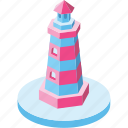 guide, lighthouse, marine, navigation, safety, security, signal icon