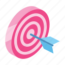 achievement, business, luck, marketing, shopping, success, target icon