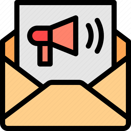 broadcast, email, marketing, message icon