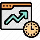 deadline, marketing, time, upsale icon