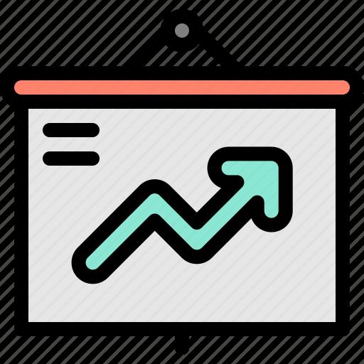 chart, graph, marketing, presentation icon