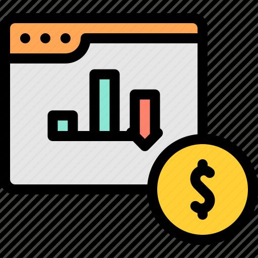 chart, graph, marketing, report icon