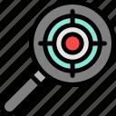 market, marketing, search, target icon