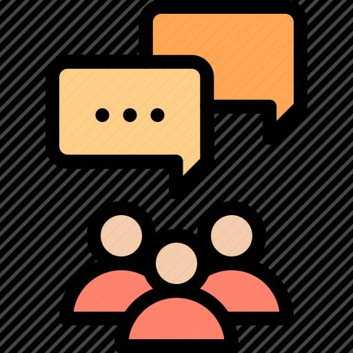 brief, discussion, marketing, opinion icon