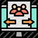computer, marketing, monitor, strategy icon