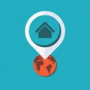gps, locations, map, pin, placeholder, position, street map icon