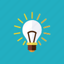 business, idea, illumination, invention, light bulb, technology icon