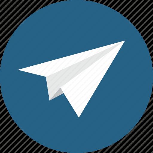 airplane, message, paper, paper plane, plane, send, ui icon
