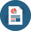 business, document, file, marketing, meeting, paper, statistics icon