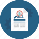 archive, business, document, file, paper, search, statistics icon