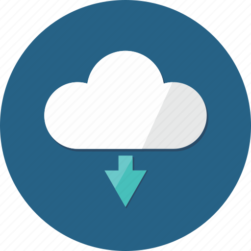 cloud, data, down arrow, download, downloading, interface, storage icon
