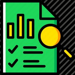 business, file, finance, marketing, search icon