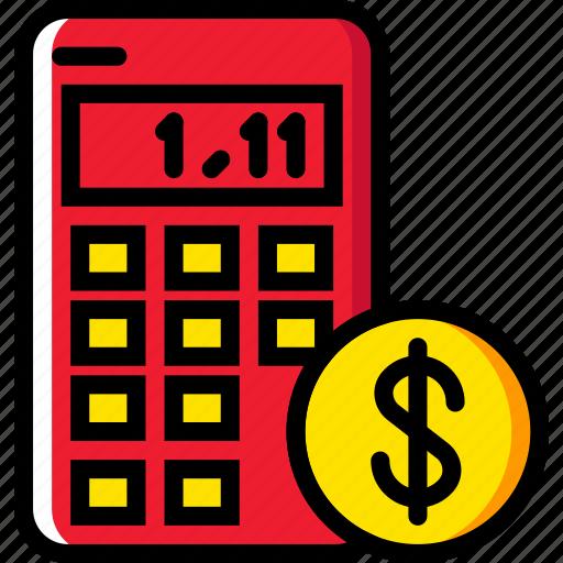 business, calculator, finance, marketing icon