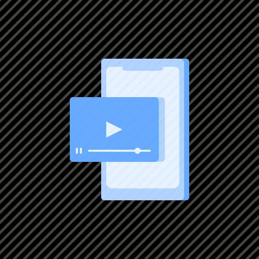 app, media, mobile, play, social, video icon