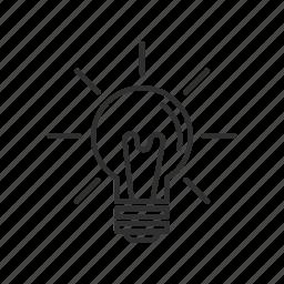 good idea, idea, light, light bulb, lightbulb, lightbulb on, regular light icon