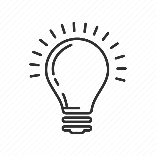 good idea, idea, light, light bulb, lightbulb, normal lightbulb, regular lightbulb icon