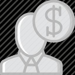 business, finance, marketing, salesmane icon
