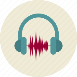 audio, headphones, marketing, sound, sound waves icon