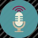 audio, conference, marketing, microphone, sound, speech icon