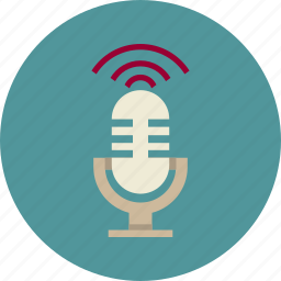 audio, conference, marketing, microphone, sound, speech icon