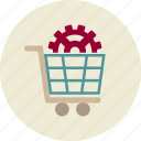buy, commerce, purchase, sale, solutions, wheelbarrow icon