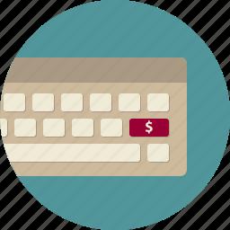 commerce, dollar, electronic, keyboard, marketing, order, purchase icon
