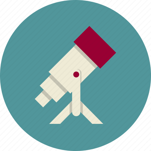 macro, research, study, telescope icon