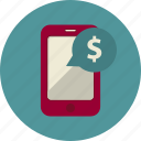 buy, commerce, dollar, marketing, mobile, pay, purchase icon