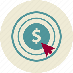 click, commerce, dollar, marketing, pay, technology, touchscreen icon