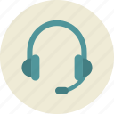 audio, communication, headphones, microphone, online training, support icon