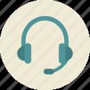 audio, communication, headphones, microphone, online training, support icon