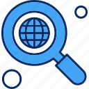 earth, find, magnifier, search