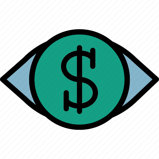 business, finance, marketing, money, vision icon