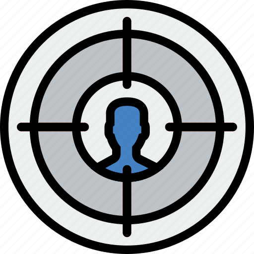 audience, business, finance, marketing, target icon