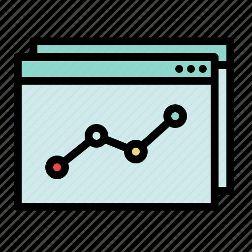 analytics, business, chart, diagram, evolution, graph, marketing icon
