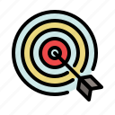 bulls eye, business, goal, marketing, optimization, target icon