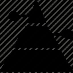 business, finance, marketing, pyramid icon