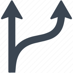 arrow, arrows, business, crossroad, strategy, tactic icon