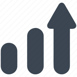 arrow, business, chart, graph, growth, investment, profit icon