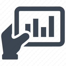 business, chart, graph, investment, report, tablet icon